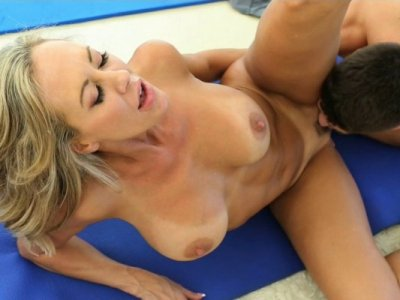 Brandi comes over to give a Yoga lesson but teaches her student more about the Kama Sutra