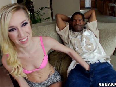 Sexy Maia Davis seduces a big black cock!