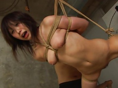 Tied up to a rope and sucking on the fellas