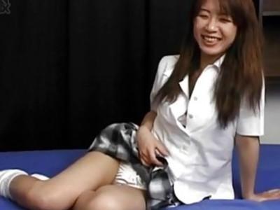 Asian solo masturbation video with Juri