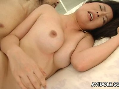 Noisy and nasty Japanese whore Reo Matsuzaka gets banged hard from behind