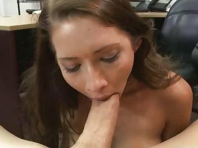 Sexy babe rocker sucking hard meat