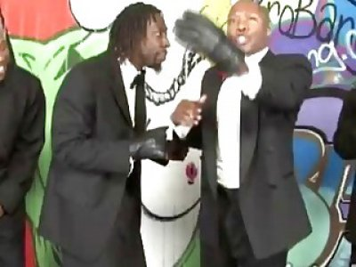 Blonde Milf Juliab Ann Sucking Big Black Schlongs