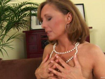Romantic blonde mom Margit gets fucked by lucky stud Ryan