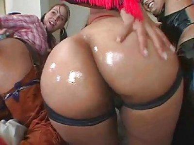 Huge ramrod in anal aperture