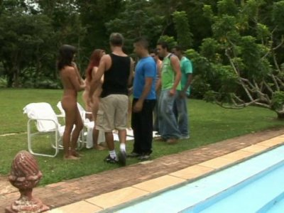 Agatha Christine is fucking hard at the pool party
