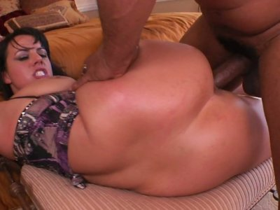 BBW hottie Kendra Star gets her phat ass fucked by two BBCs