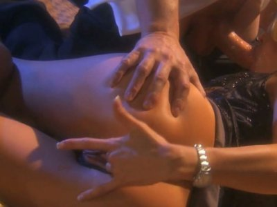 Curly haired blonde bitch Jessica Drake takes a ride on white cock