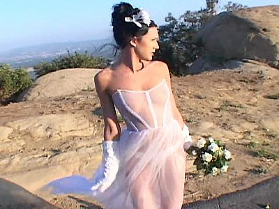 Fresh bride gets fucked by two.., in the ass