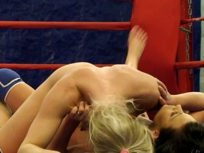 Pussy riot on the boxing ring with nasty girl Melane