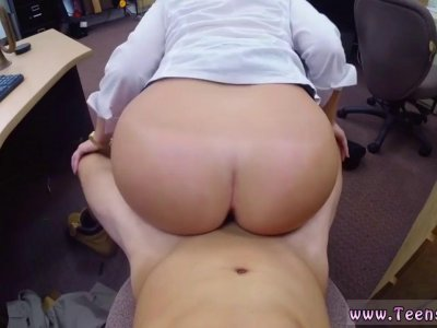 Big tits and ass strap on train PawnShop Confession