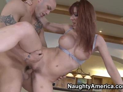 Derrick Pierce gets his hands on hot redhead Lexi Lamour