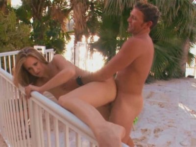 Hot tempered blonde Summer Long gets slapped in doggy style