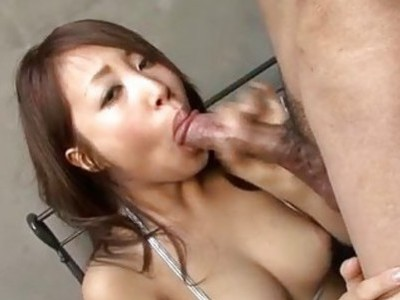 Aya throats a fat dick in serious POV scenes