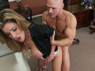 Hussy whore Kayla Paige gets dirty fucked with her boss