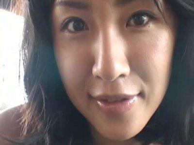 Sweet and nice chick Megumi Kagurazaka gonna masturbate in the cave